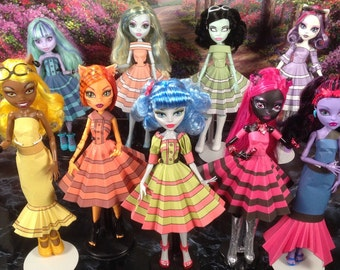 nicole printable doll clothes makes great monster high clothes