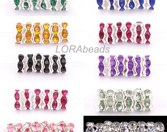 100pcs Fashion Rondelle Glass Crystal Spacer Beads For Basketball Wives Earring
