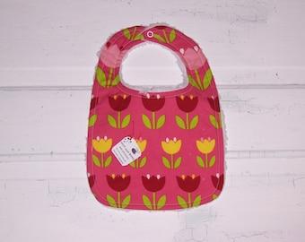 Pretty Tulip Baby Girl Bib !!  FREE SHIPPING !!!!!!!!