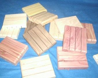 Wooden Soap Dish, Handmade wooden Soap Tray, Soap Holder, Aromatic Red Cedar, Walnut, Pine, Oak,