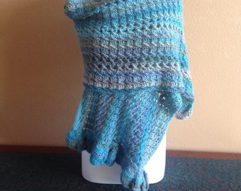 Hand crocheted shawl.