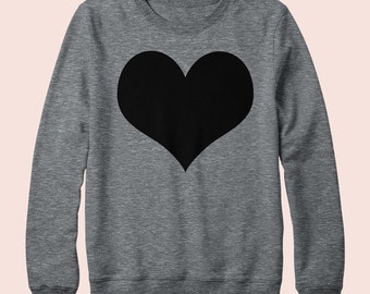 Heart - Sweatshirt, Crew Neck, Graphic