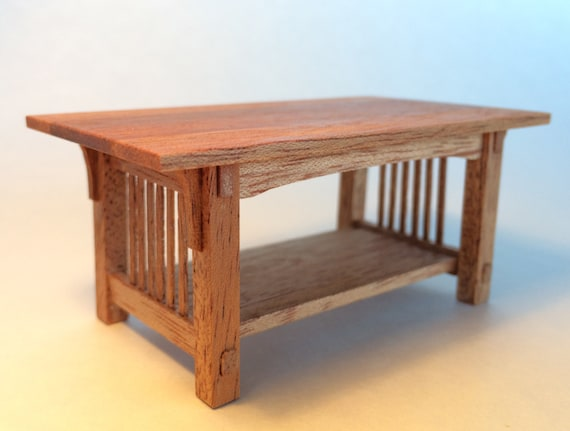 Mission Coffee Table Mahogany 1 Inch Scale Stickley Arts And Crafts Handcrafted