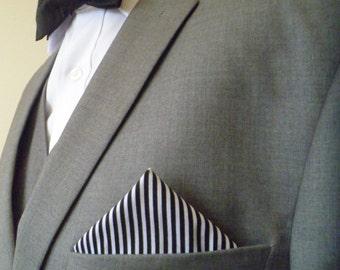 The 'Rhett' bow tie and pocket square set