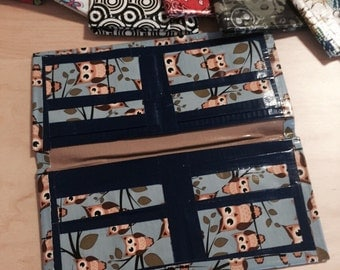 Owl and blue duct tape wallet
