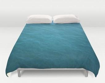 duvet cover, queen duvet, king duvet, full double duvet cover, sea duvet, ocean blue water nautical aqua aquamarine