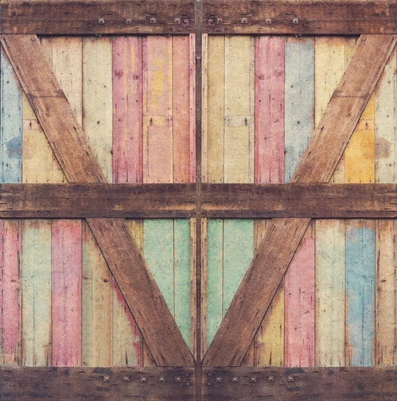 Photography Backdrop Distressed Wood Barn Door By Northerndrops