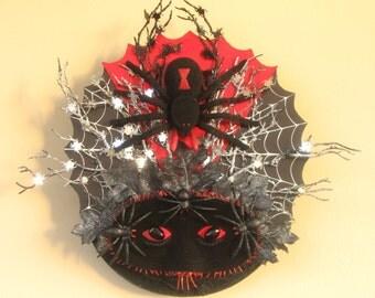 Widow Spider Mask Wreath