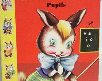 Vintage Little Castle Childrens Book-MR. Rabbit's Pupils