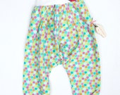 Hippie Adorable Harem Kids Pants Size 1T Myfunnyclothes Comfort Sweet Cotton Flowers