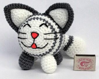 Amigurumi cat/crochet cat/cat/handmade/toy