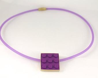 Violet choker necklace