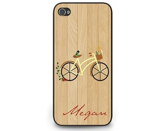 Bicycle Personalized Phone Case iPhone 6 - Bike Art iPhone 4s Cover - Personalized Bicycle iPhone 5s Phone Case Bike Art iPhone 5c