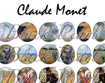 Claude Monet - digital images for cabochons - 60 images Page