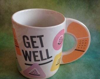 "Vintage Telaflora ""Get Well"" band-aid mug"