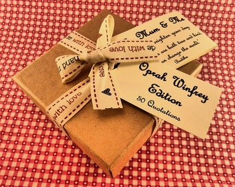 Oprah Winfrey Quotes - Box of 50 Handmade Quotations