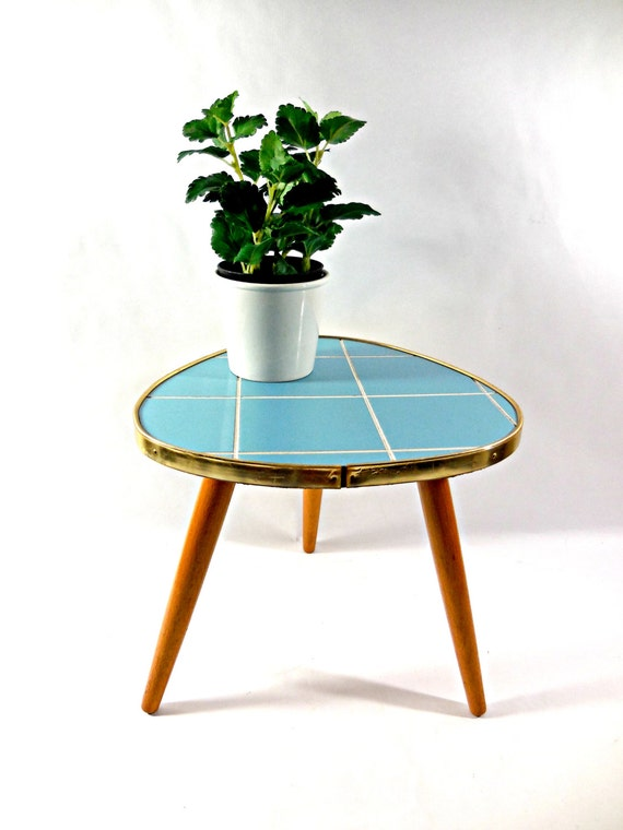 Mid Century Atomic Age Tripod Coffee Table By Vintagetofrance