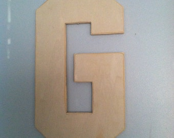 wooden letter g wooden letter j wooden letter k any unfinished wooden letter large wooden letters nursery decor home decor dorm decor