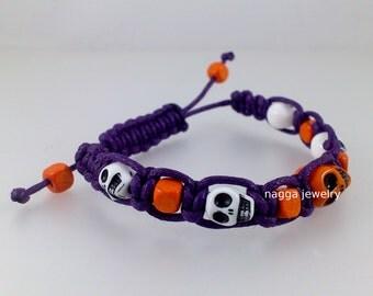 Skull Macrame Bracelet