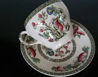 Johnson Brothers Indian Tree Tea Cup And Saucer