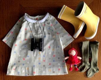 Daniela Top & Tunic: DIRECT DOWNLOAD PDF pattern in sizes 2-10 years with full instructions in English