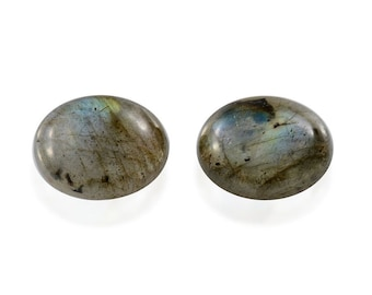 Malagasy Labradorite Loose Gemstones Set of 2 Oval Cabochon 1A Quality 8x6mm TGW 2.00 cts.