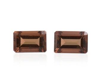 Mocha Scapolite Octagon Cut Set of 2 Loose Gemstones 1A Quality 6x4mm TGW 0.95 cts.