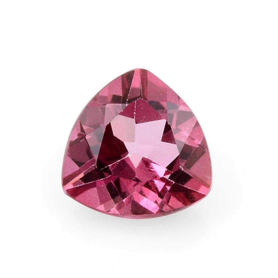 mystic pink coated topaz trillion cut gemstone 8mm tgw