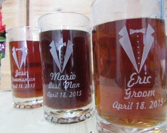 Set of 6, Groomsmen Gift Ideas,  Personalized Beer Stein, Groomsman Wedding Gift, Custom Beer Mug, Best Man Gift, Groomsman Gifts