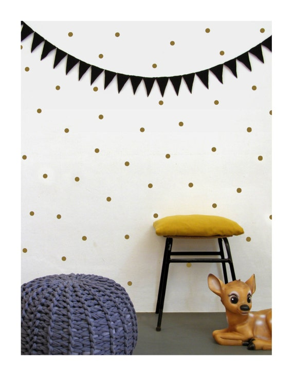 Gold Dots Wall Decals Wall Stickers Wall Decor By Tayostudio