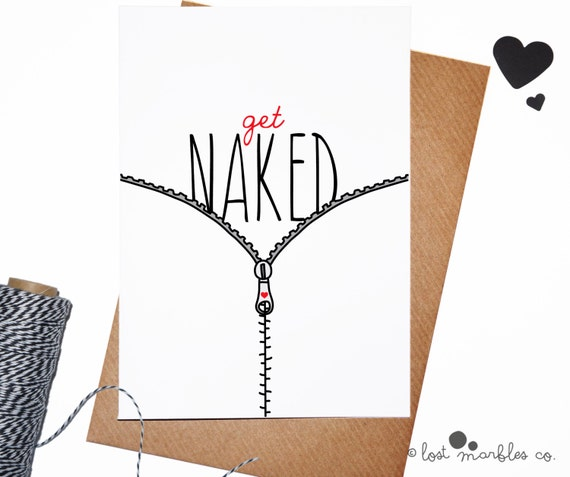 Sexy Valentine Card ∙ Funny Anniversary Card ∙ Adult Card ∙ Mature Card ∙ Sexy Card ∙ Card for Him ∙ Card for Her ∙ Get Naked