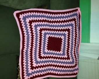 Pink, Purple and Maroon Baby Blanket