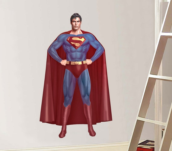 superman rage decal removable wall sticker home by printadream