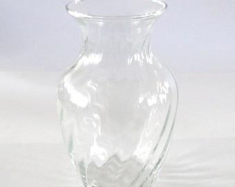 Small Swirled Glass Vase