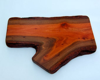 Gorgeous natural wood cheese board or serving plater