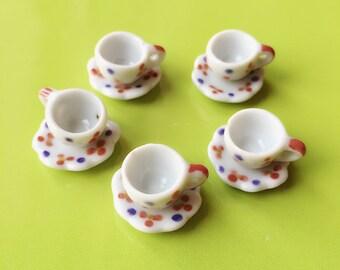 Sale 20% 5 Miniature Empty Coffee Cup Set Miniature,Dollhouse Coffee Cup,Miniature Coffee,Dollhouse Coffee,Mini Coffee Cup,Dollhouse DIY