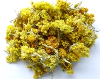 Organic dried Helichrysum (Lat. Helichrýsum) / harvested in Bakhchisarai (Russia), in a mountainous area in 2015 1 oz/ 30 g.