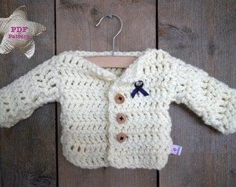 Crochet pattern Baby Cardigan Vest