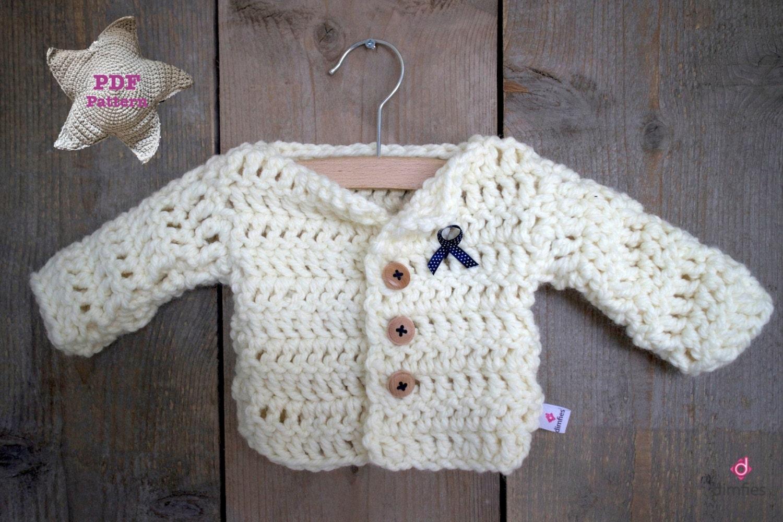 Crochet Baby Waistcoat Pattern : Crochet pattern Baby Cardigan Vest