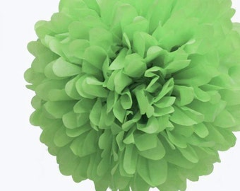 "1 x 35cm (14"") Light GREEN Tissue Paper POM POM / Pompom / Birthday Party Decoration Ideas and Supplies / Wedding / Baby Shower"