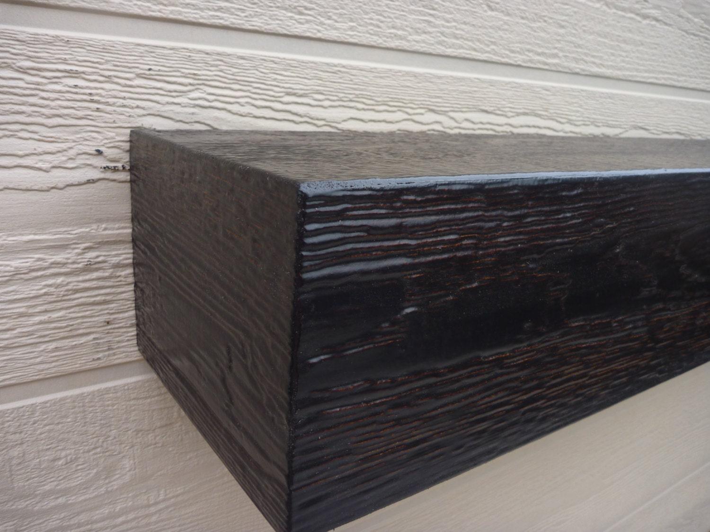 espresso fireplace mantle floating shelf tv shelf 60