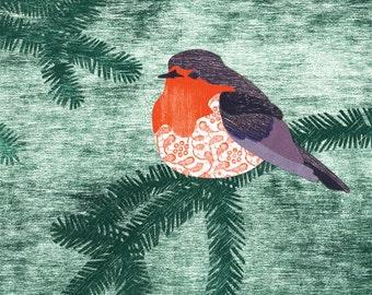 postcard - robin