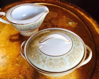 Noritake Sugar Creamer, Noritake China,  Discontinued Pattern Viscount