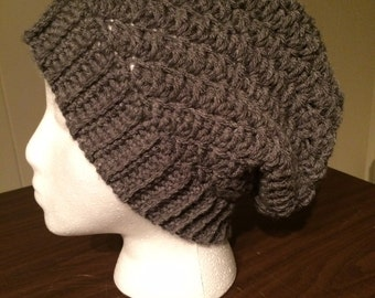 Womens slouch hat with button accent