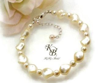 Pearl Bracelet, Bridal Bracelet, Wedding Jewelry, Swarovski Pearl Bracelet, Bridesmaid Jewelry, Bridal Jewelry, Pearl Bridal Jewelry, Bride
