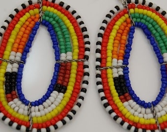 Aesthetic African Jewelry/The Kenyan MASAI BEADED Earrings
