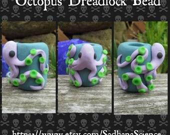 Octopus Pirate Underwater Dreadlock Bead