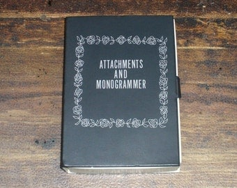 Sears Kenmore Sewing Machine Attachments and Monogrammer