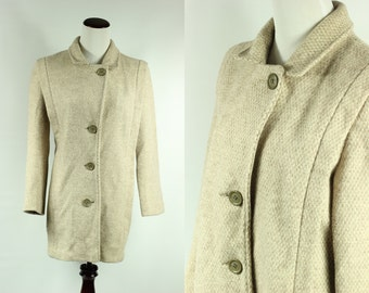 S a l e • 60's Oatmeal Wool Herman Kay Coat
