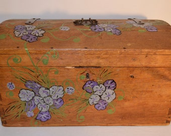 Wooden Hand Painted Trunk